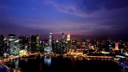 Wallpaper Panorama of Singapore1600 x 900 widescreenDesktop 1161