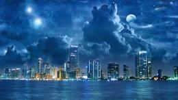 Cloudy sky over the city wallpaper #3529 1588