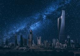 Kuwait the stars sky night city buildings wallpaper | 2048x1448 874