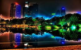 3d Colorful City Lights Night Sky BackgroundWallPaper FeedWallPaper 1303