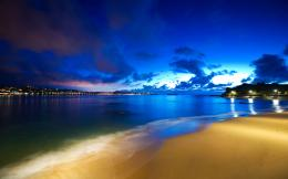 Cloak Of Night Beach, Sea, Sky City | Free HD wallpapers 1729