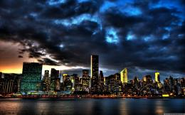 City building and cloudy sky scenery of New York city | city wallpaper 1304