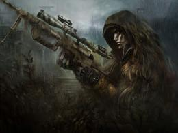 Wallpaper soldier, sniper, rain, camouflage, rifle, BlackShot desktop 1322
