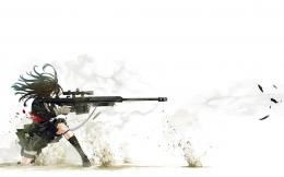 anime, art, sniper, gun, shoot, desktop wallpaper, background 756