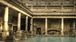 roman bath house ancient rome wallpaper 1676