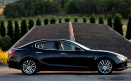 2014 Black Maserati Ghibli Wallpaper 1416