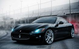 Black Maserati Granturismo convertible series wallpaper 756