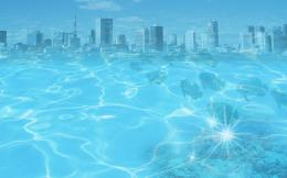 1920x1200 Blue water city desktop PC and Mac wallpaper 339
