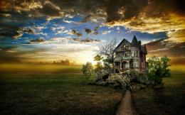 of an abandoned house HD Desktop Wallpaper | HD Desktop Wallpaper 1861