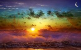 Sun, Moon, Sea ,Sunset wallpapers 179