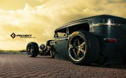 Ford Model T rat rod hot rods retro wheel wheels wallpaper background 1632