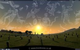 Winter, woodhenge, downloads, background, sunset, solstice, panorama 1452