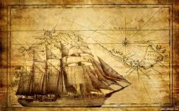 Ancient Map Of Pirates Desktop Wallpaper 305