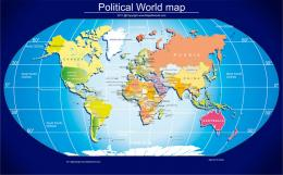 Free Political World map for desktop wallpaper, and free use for any 145