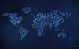 Download: Typographic World Map Night HD Wallpaper 1980