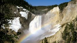 lower falls yellowstone national park wyoming 1366x768 Wallpaper 881