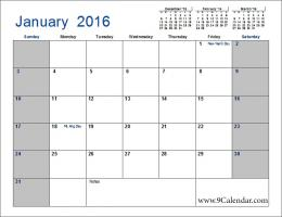 January 2016 Calendar Vertex | Wallpapers 462
