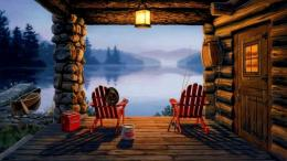 download fishing cabin wallpaper tags trees fishing lake cabin 3d 1778