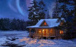 Northern Lights Log Cabin 247