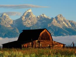 Mountains Cabin Desktop Wallpaper 956