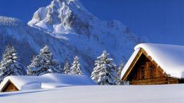 1366x768 Winter Cabin desktop PC and Mac wallpaper 1710