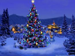 Free Christmas Desktop Wallpapers: Christmas Tree Lights Wallpaper for 1993
