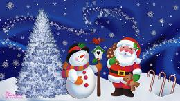 santa claus with christmas wallpapers santa reendiers deers wallpaper 1845