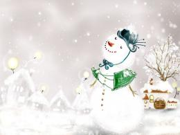 Free Christmas Snowman Wallpapers for Desktop 1044