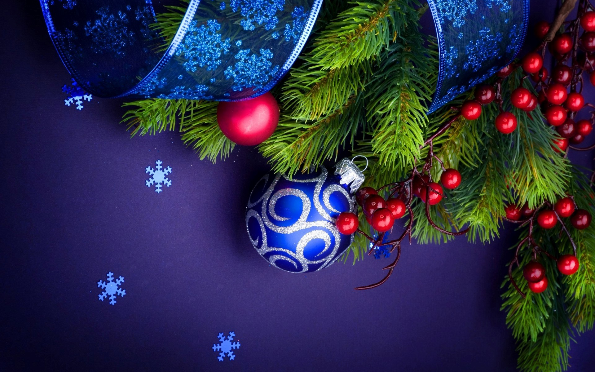 Christmas Balls and Trees HD Nice Wallpapers 1145