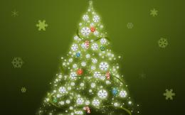 HD Wallpapers » 1280x800 » Christmas » simple green christmas tree 1880