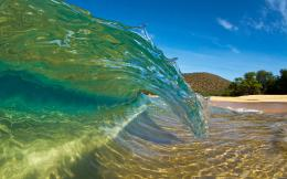 Shorebreak Curl, Big Makena Beach, Maui, Hawaii, U S| Maui Hawaii 1121