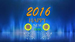 happy new year 2016 hd wallpapers flower blue happy new 1205