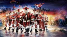funny Christmas parody Santa Claus digital art wallpaper background 922