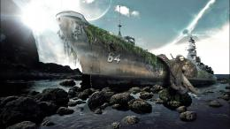 Old stranded ship pictures and wallpaper for desktop 509