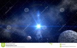 Stock Image: Blue star explosion for sci fi backgrounds 294