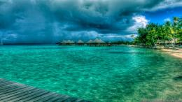 Rain Over Bora Bora Summer Nature Wallpapers 273