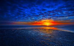 1080P Blue Sunset background wallpaper hd 1920x1200 For 20 21 inch LCD 121