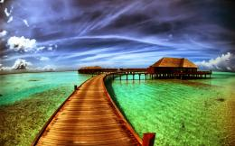 Wooden Bridge Desktop Wallpaper 345