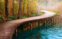 Wooden Bridge Desktop Wallpaper 1153