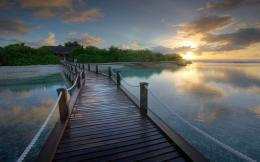 Wooden Bridge Desktop Wallpaper 1635