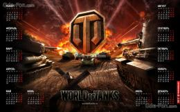 wallpaper world of tanks, wot, Tanks, Calendar free desktop wallpaper 1845