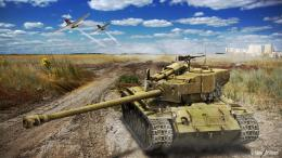 World of Tanks: tank in the desert wallpapers and imageswallpapers 1400