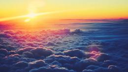 sunrise above the clouds nature 112825 1660