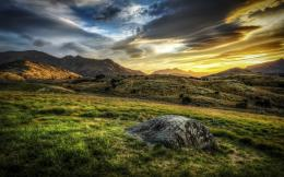Morning Mountains Sky Landscape Sunrise Sunset Hdr HD BackgroundHD 240