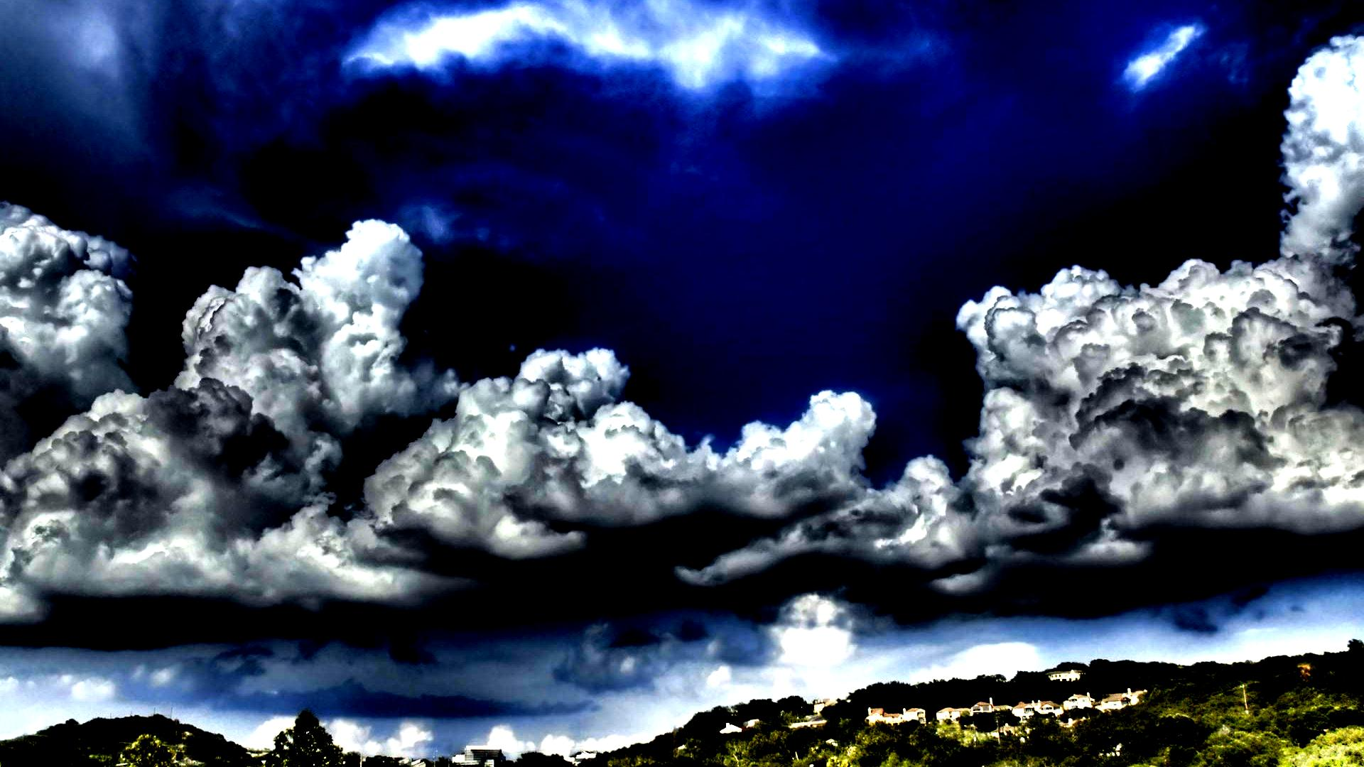 Superb Clouds Scape Hdr Town Mountains Sky hd wallpaper #1124122 169