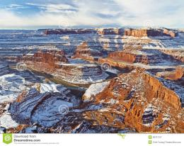 Colorado River Gooseneck In Winter Royalty Free Stock Photography 1288