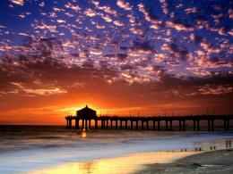 colorful sky manhattan beach wallpapers hd wallpapers colorful sky 1671