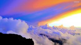 Clouds in the colorful sky Wallpaper 216