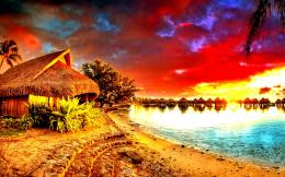 Beautiful sunset colorful sky resort nature HD Wallpaper 1183