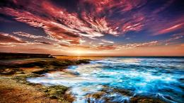 Download Colorful sky on the beach wallpaper 1649